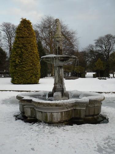 Winter fountain.