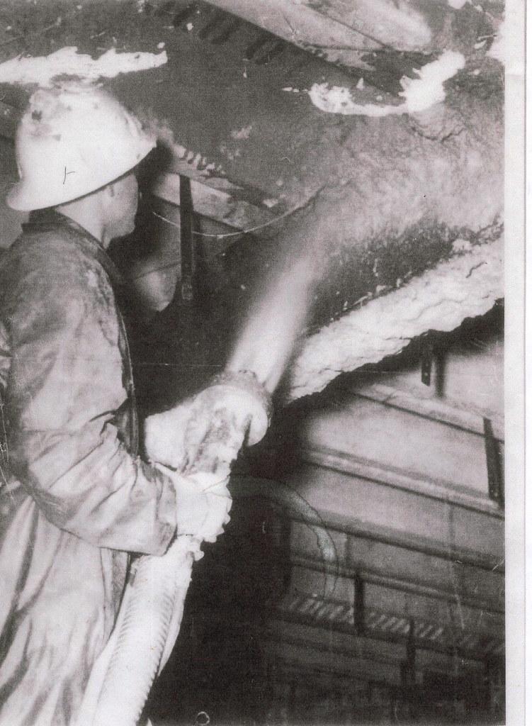 Spraying Limpet Asbestos