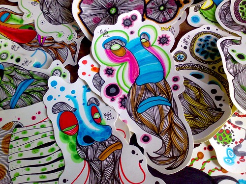 humble folk's hand drawn stickers - 02