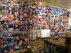 lido's caffee wall of patrons