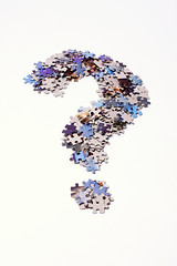 Question mark made of puzzle pieces By Horia Varlan on flickr
