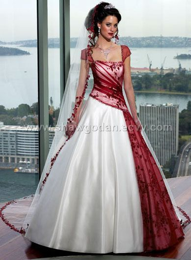 Wedding Dresses With Color.The Wedding Gown Dresses Options Red Embroidery Wedding