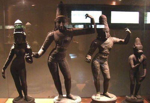Chola bronze - Rama, Sita, Lakshmana and Hanuman