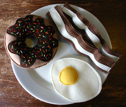 Delicious felt breakfast
