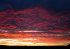 Red Sky (ninariver) Tags: pink red sky orange sun nature yellow clouds sunrise landscape texas nina fireinthesky potofgold ninariver