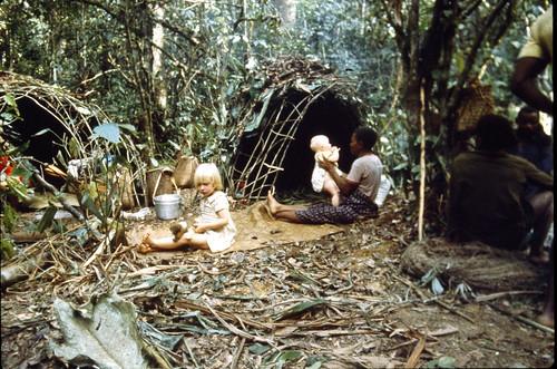 Sarah, Safenia and Rebekah in camp_1983