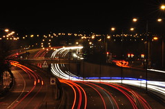 A40 Western Avenue Traffic Light Trails (Jutiar) Tags: longexposure nightphotography london nikon traffic trails sigma lighttrails streaks ealing a40 traffictrails perivale d90 sigma70300 trafficstreaks nikond90 a40westernavenue jutiar wwwjutiarphotographycom