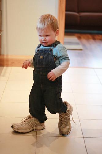 Wearing Mummy's Shoesb