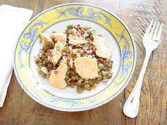 salada lentilhas e salmão