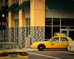 Yellow World (MissMae) Tags: street yellow cab northpark week4 themeyellow savagephotography 5252010