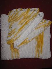 Dish cloths (Crafty YaYa) Tags: knitting dish towels cloths