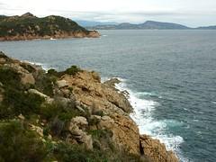 Depuis la tour de Sponsaglia : vers la côte N, la Testa di a Carpiccia et la Palombaggia