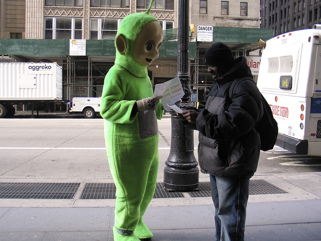 Teletubby, Midtown NYC