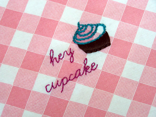 hey cupcake embroidery pattern