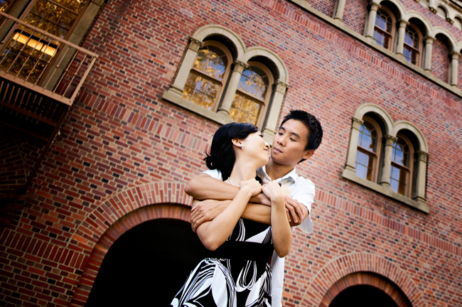 USC engagement photo