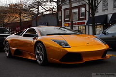 Stopped (Alex Weber) Tags: new york orange cars alex car yellow speed canon neck photography gold photo moving dof shot great wheels fast super spot best lp 28 expensive rims panning ever lamborghini find supercar fastest weber murcielago lambo 640 murci alexweber lp640 canon7d