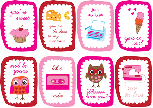 Peptogirl Valentines by Amy Cluck of Peptogirl Industries.
