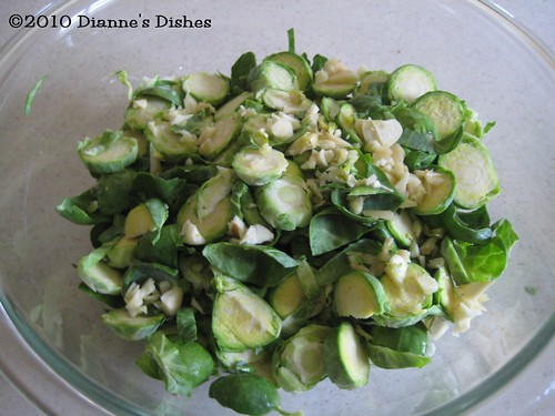 Spicy Brussels Sprouts: Sprouts and Garlic