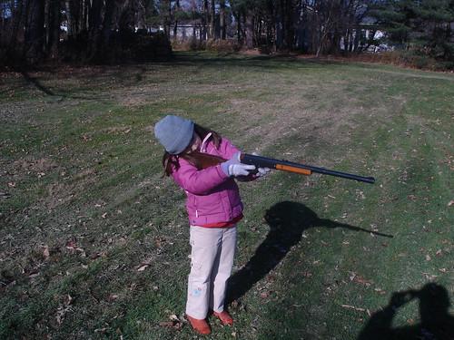 Corinne shooting BB gun