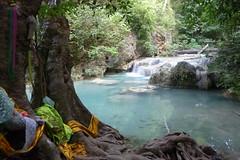 Erawan Waterfall, Thailand (Marjan de B) Tags: travel vacation thailand waterfall nationalpark asia southeastasia december 2009 erawan deblaauwpix kancanaburi