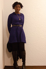Wed 13 Jan - 8 (Elsbro) Tags: home boots els b52 bluedress whatiwore modcloth dailyoutfits afterworkshots
