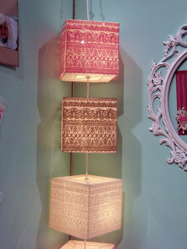 DIY lamp from Hambly Screen Prints