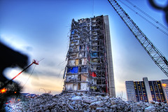 75/365 (ShutterRunner) Tags: sunset chicago building colors rock stone contrast construction crane sigma wideangle demolition wires hdr rubble guts cabrinigreen sigma1020mm theprojects cabrini photomatix nikcolorefex