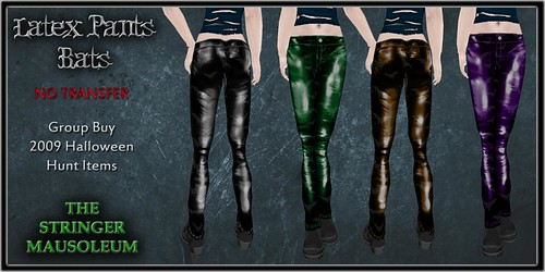Unisex Latex Pants-Bats
