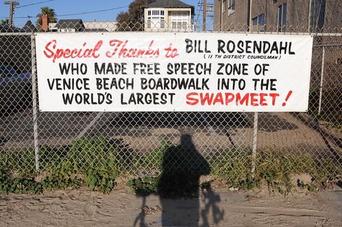 Bill Rosendahl Sign Venice Beach