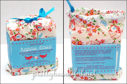Nostalgia Organics Happy Days Soap in Pinkgrapefruit & Wild Lemongrass