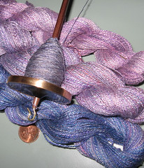 spindle silk 3 skeins