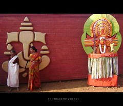 You-The Way, truth and light (Manoj Aswathi's Travel& Photography.) Tags: people art wall god culture kerala ritual females keralam malabar travelphotography theyyam bekal kasargode traveltourism kanhangad aswathi233 mtv233 photographymanoj manojphotography perumkaliyattam aramath
