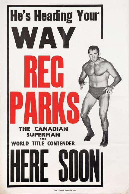 wrestling poster, reg parks