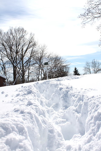 fighting through the thigh deep snow (for me at least) to J's parent's house to dig them out.