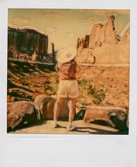 arches hat (t knouff) Tags: hat polaroid utah arches moab redrock