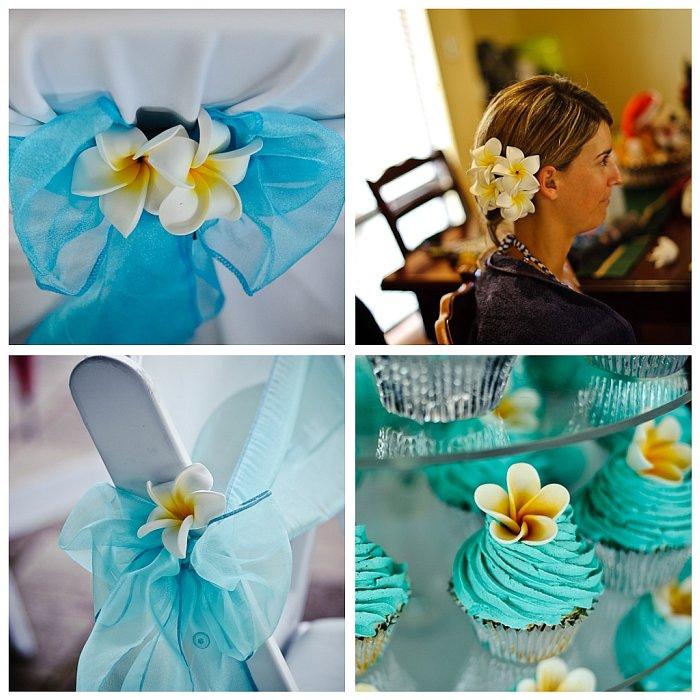 Lea & Todd's Wedding - Frangipanis Theme