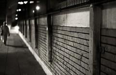 Alone.. (Aristotle Liu) Tags: uk blue light red england urban green london water lines wall night canon buildings 50mm lights europe dof bokeh f14 hammersmith f16 walls pinoy londonist unexplored kodakero pinoykodakero vftw