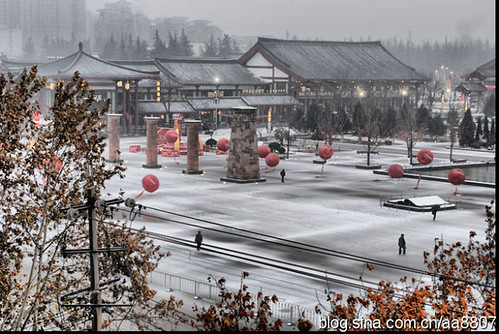 春雪·大雁塔北广场