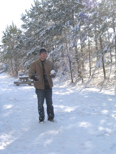 Justin in snow