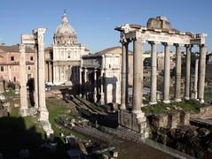 Tempio di Saturno, Foro Romano, Roma, Italia.