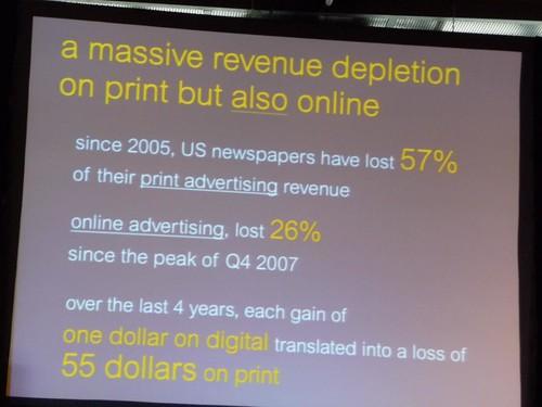 Massive revenue depletion in print and online news