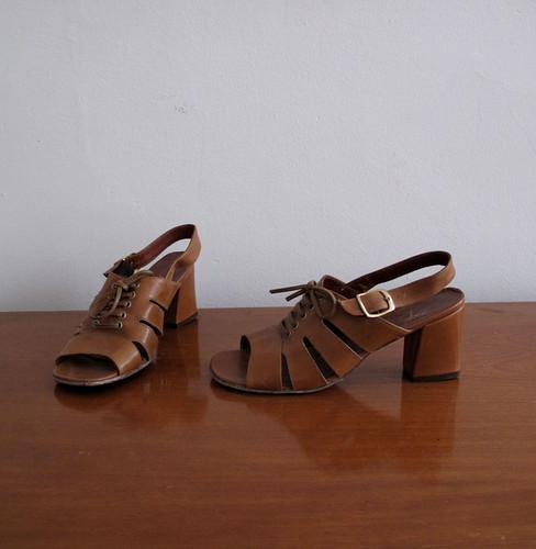 vintage 60's sandals