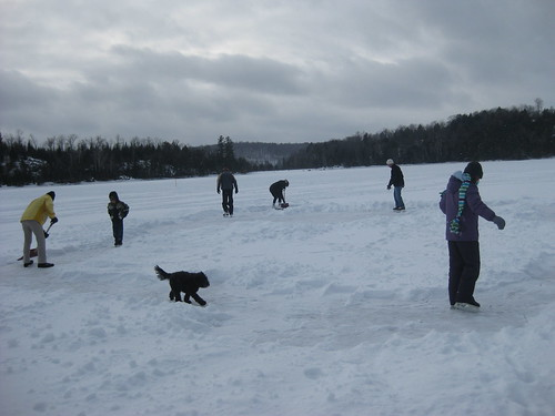 Skating on Little Redstone Lake, Haliburton, Ontario