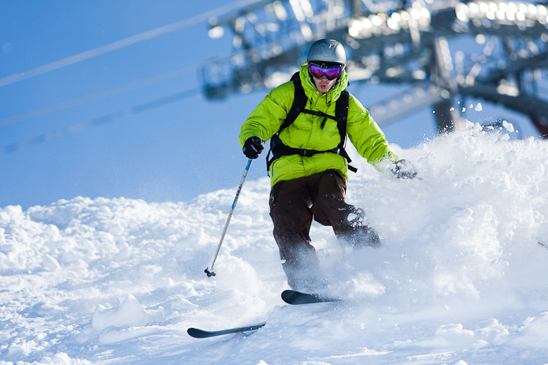 Skiing in La Plagne