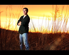 Senior Nick ~  Burning fields ~ CSI Miami look (~Phamster~) Tags: senior canon fields westcott speedlight softbox csimiami strobist
