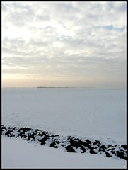 IJ(s)meer (Ryffa) Tags: winter lake snow ice amsterdam frozen meer sneeuw nederland thenetherlands dijk dike flevoland almere ijs ijmeer