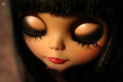 Nerea (erregiro) Tags: wow nose carved eyes doll ooak makeup double lips bow makeover blythe bangs custom hairstyle trade bwt erregiro