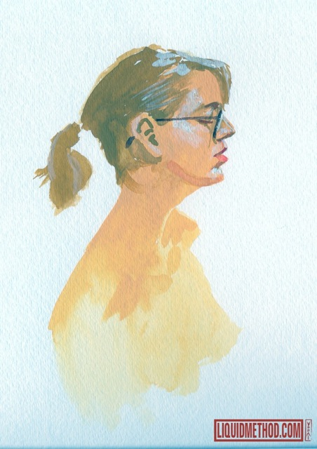 More Watercolor Studies from last weeks Norfolk Figure Drawing