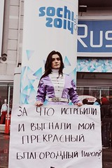 Why have you exterminated and deported my beautiful noble people? (No Sochi 2014 Committee) Tags: olympics sochi sochi2014 sochiolympics