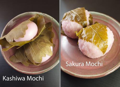 Kashiwa & Sakura Mochi